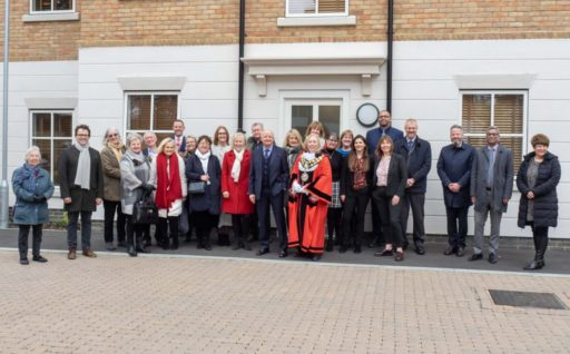 Bugler in partnership with RHP LB of Richmond and FitzRoy celebrate the completion of Haydon Close Hampton Wick