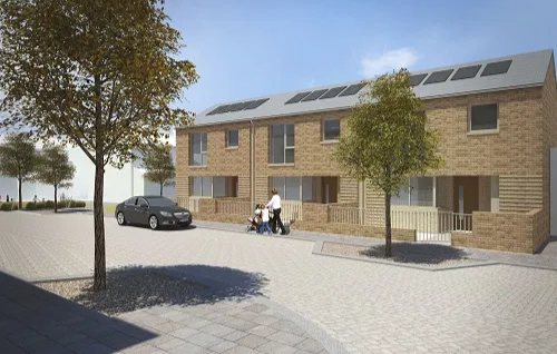 Provision of 23 contemporary homes for social rent and a new children's play area