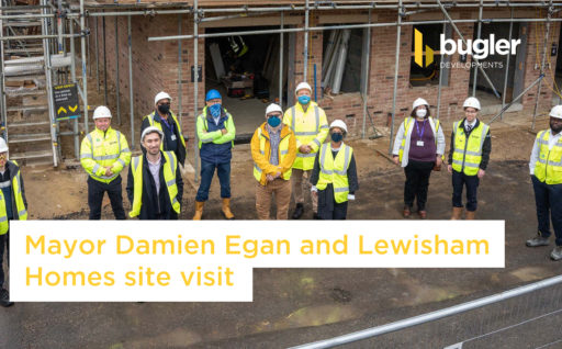 Mayor Damien Egan and Lewisham Homes site visit
