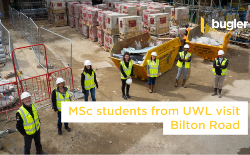 MSc students from the University of West London visit Bilton Road