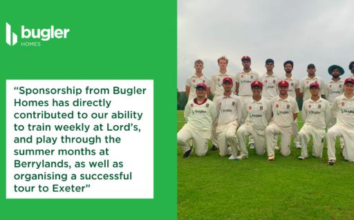 LSE Cricket Team Tour sponsored by Bugler Homes